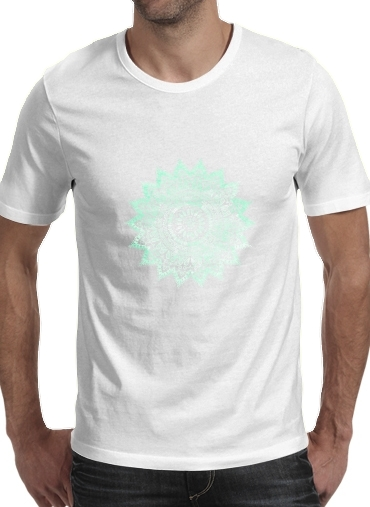 Mint Bohemian Flower Mandala for Men T-Shirt