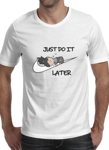 T-Shirts Nike Parody Just do it Later X Shikamaru