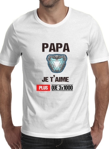 Papa je taime plus que 3x1000 for Men T-Shirt