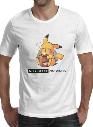 Pikachu Coffee Addict for Men T-Shirt