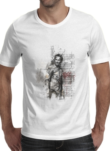 Grunge Rick Grimes Twd for Men T-Shirt