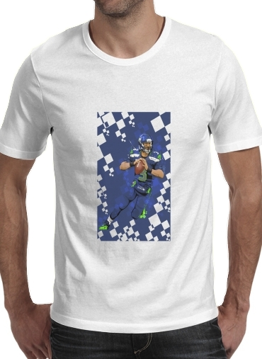Seattle Seahawks: QB 3 - Russell Wilson for Men T-Shirt