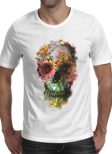 Skull Flowers Gardening for Men T-Shirt