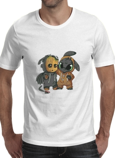 Groot x Dragon krokmou for Men T-Shirt