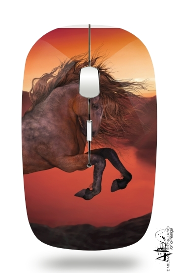 A Horse In The Sunset for Wireless optical mouse with usb receiver