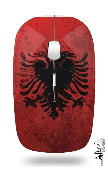 Albanie Painting Flag for Wireless optical mouse with usb receiver