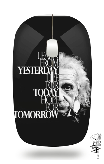 Albert Einstein for Wireless optical mouse with usb receiver