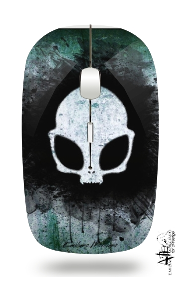Skull alien for Wireless optical mouse with usb receiver