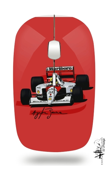 Ayrton Senna Formule 1 King for Wireless optical mouse with usb receiver