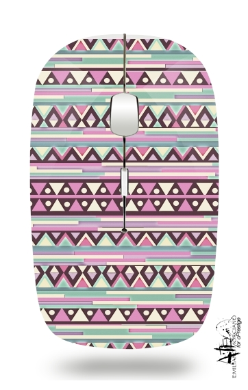 Aztec Pink And Mint for Wireless optical mouse with usb receiver