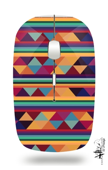 Aztec Pattern Pastel for Wireless optical mouse with usb receiver