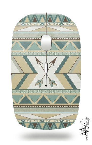 Aztec Pattern  for Wireless optical mouse with usb receiver
