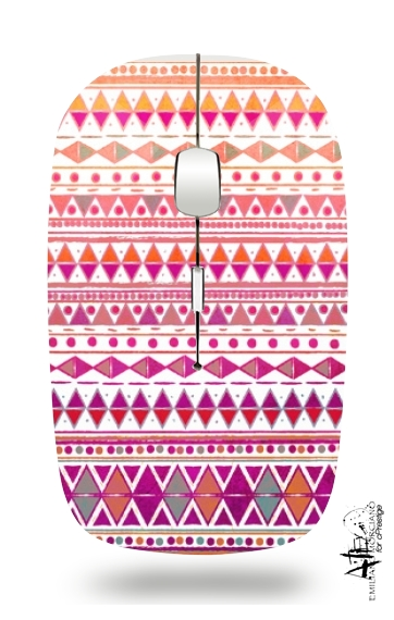 Tribal Aztec Summer Breeze for Wireless optical mouse with usb receiver
