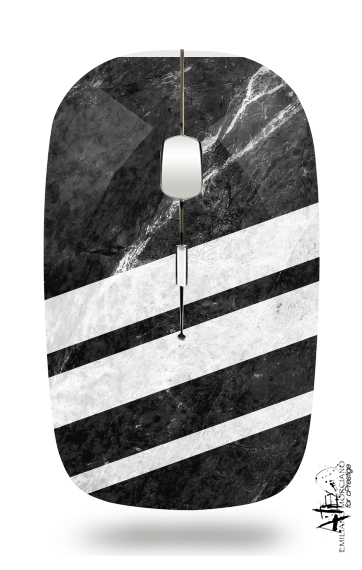Black Striped Marble for Wireless optical mouse with usb receiver