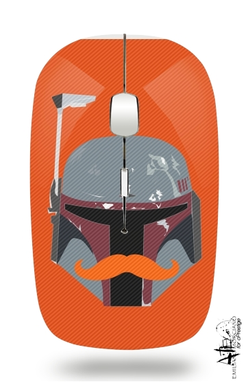 Boba Stache for Wireless optical mouse with usb receiver