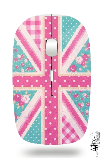 British Girls Flag for Wireless optical mouse with usb receiver