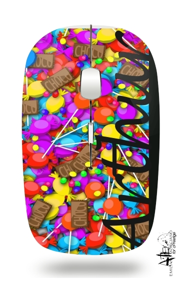 Candy Monogram - Arthur for Wireless optical mouse with usb receiver