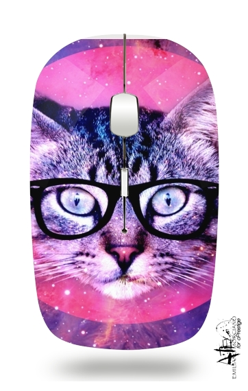 Cat Hipster for Wireless optical mouse with usb receiver