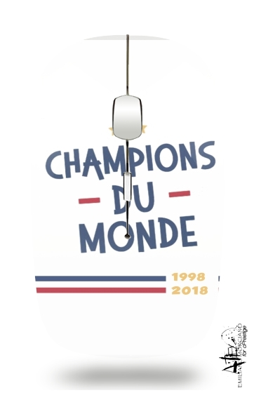 Champion du monde 2018 Supporter France for Wireless optical mouse with usb receiver