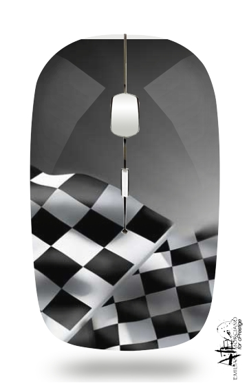 Checkered Flags for Wireless optical mouse with usb receiver