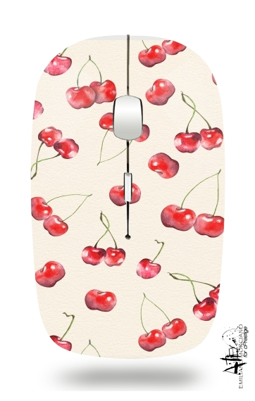 Cherry Pattern for Wireless optical mouse with usb receiver
