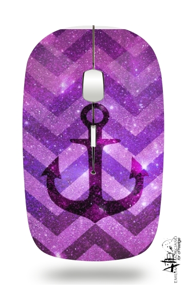 Anchor Chevron Purple for Wireless optical mouse with usb receiver