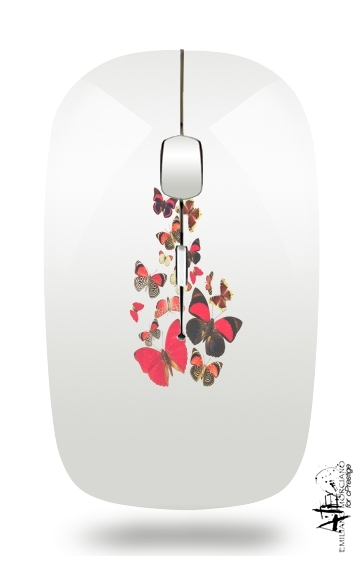 Come with me butterflies for Wireless optical mouse with usb receiver