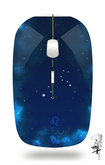 Constellations of the Zodiac: Leo for Wireless optical mouse with usb receiver