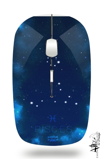 Constellations of the Zodiac: Pisces for Wireless optical mouse with usb receiver