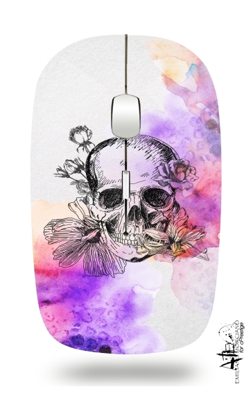 Color skull for Wireless optical mouse with usb receiver
