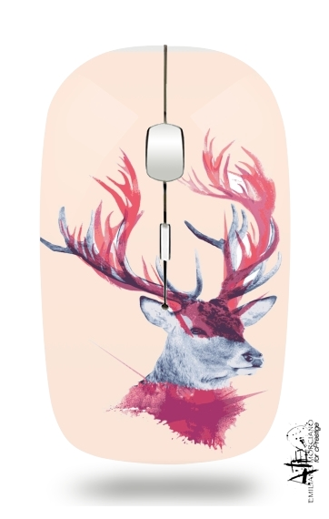 Deer paint for Wireless optical mouse with usb receiver