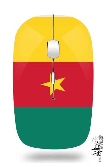 Flag of Cameroon for Wireless optical mouse with usb receiver