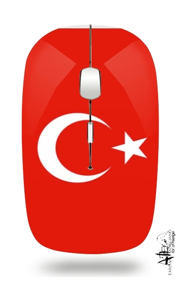 Flag of Turkey for Wireless optical mouse with usb receiver