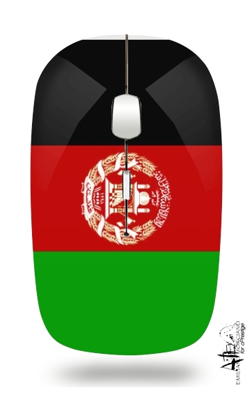 Flag Afghanistan for Wireless optical mouse with usb receiver