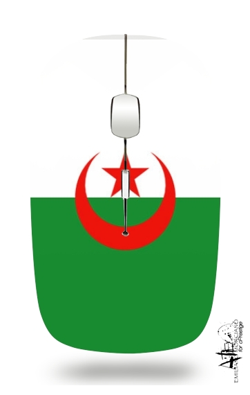 Flag Algeria for Wireless optical mouse with usb receiver