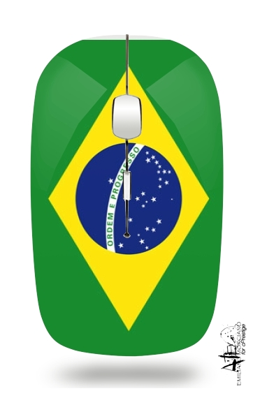 Flag Brasil for Wireless optical mouse with usb receiver