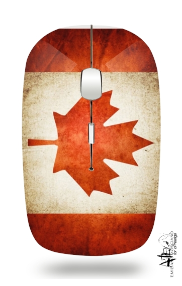 Canadian Flag Vintage for Wireless optical mouse with usb receiver