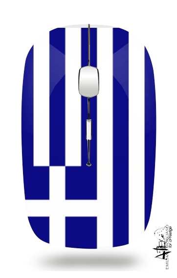 Greece flag for Wireless optical mouse with usb receiver