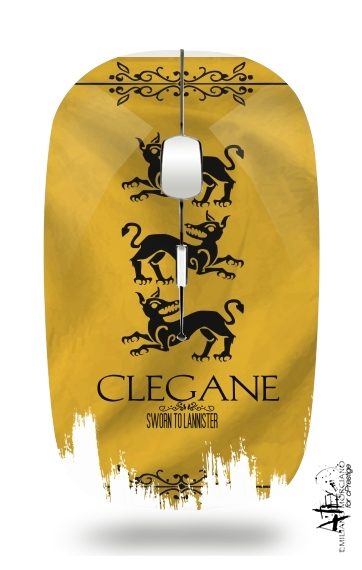 Flag House Clegane for Wireless optical mouse with usb receiver