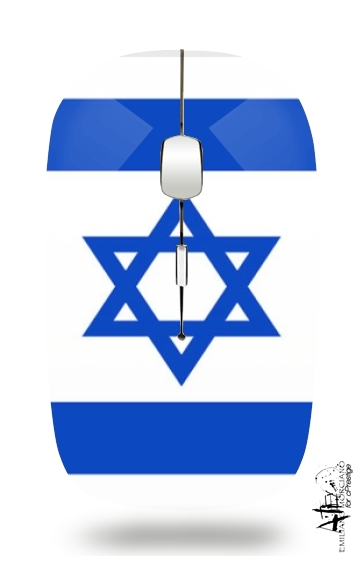 Flag Israel for Wireless optical mouse with usb receiver