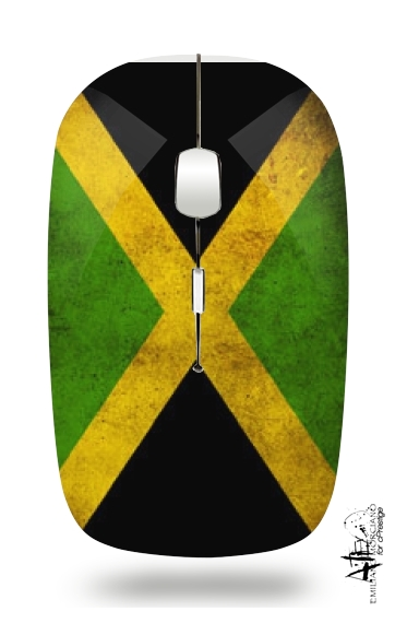 Vintage flag Jamaica for Wireless optical mouse with usb receiver
