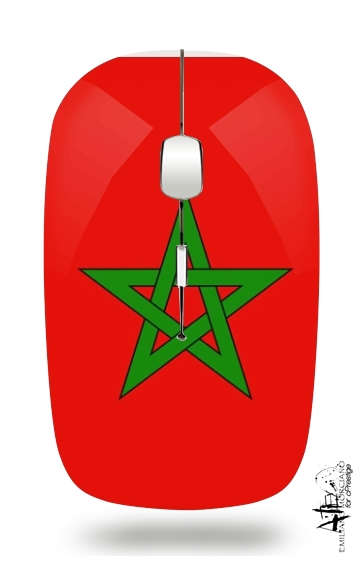 Flag Morocco for Wireless optical mouse with usb receiver