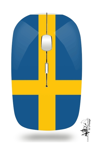 Flag Sweden for Wireless optical mouse with usb receiver