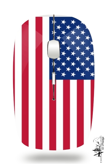 Flag United States for Wireless optical mouse with usb receiver