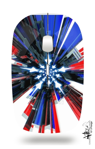 Usa Flag Mecha for Wireless optical mouse with usb receiver