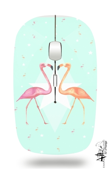 FLAMINGO PARTY for Wireless optical mouse with usb receiver
