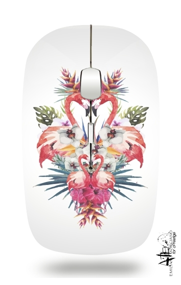 Flamingos Tropical for Wireless optical mouse with usb receiver
