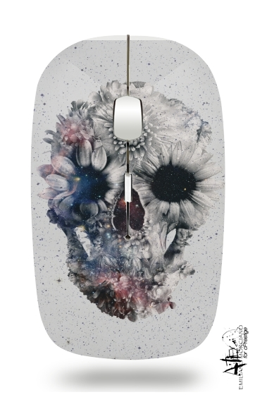 Floral Skull 2 for Wireless optical mouse with usb receiver