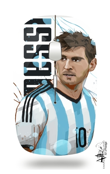 Football Legends: Lionel Messi World Cup 2014 for Wireless optical mouse with usb receiver