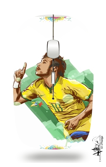 Football Stars: Neymar Jr - Brasil for Wireless optical mouse with usb receiver